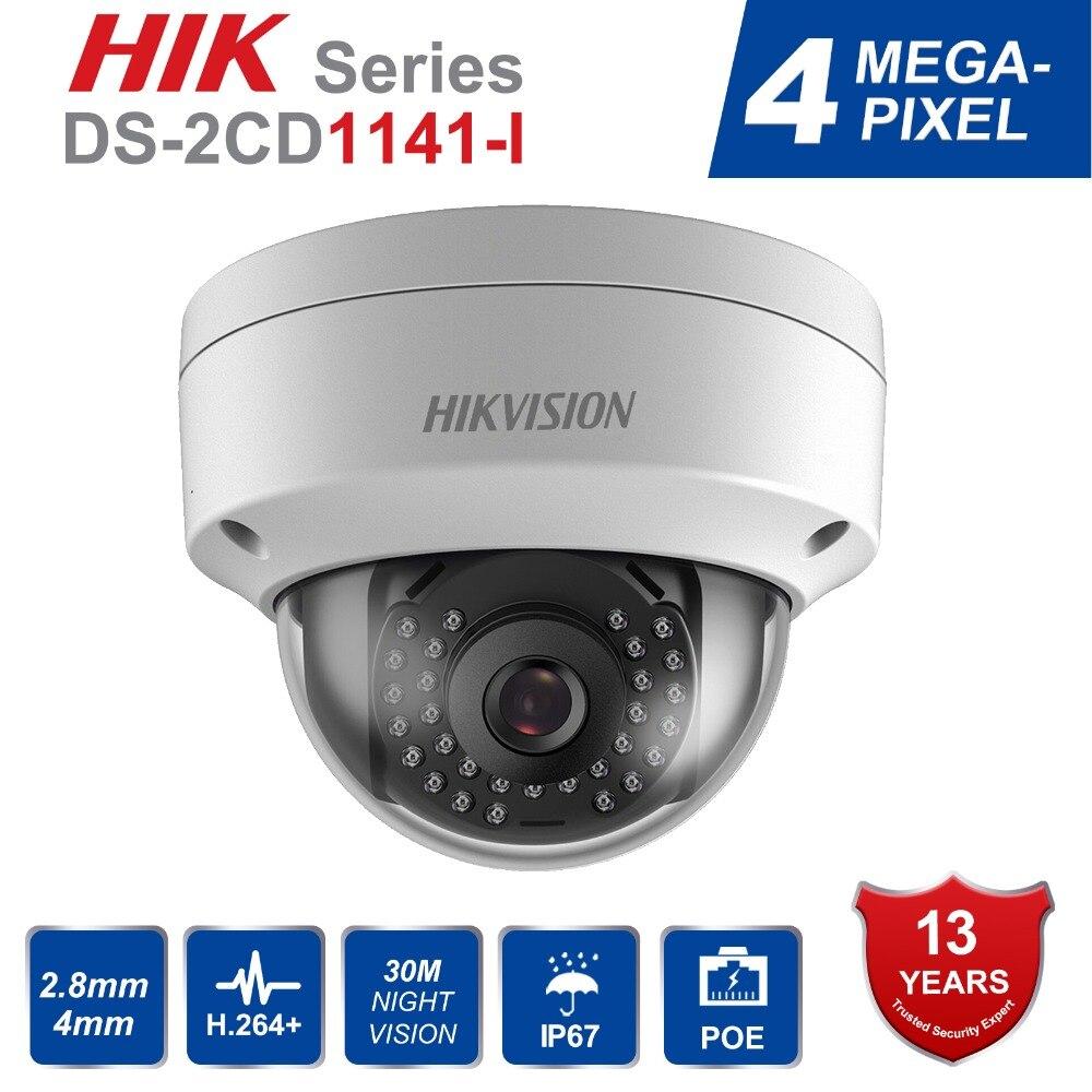 En Stock Hikvision 1080 p Sécurité Caméra Dôme Onvif DS-2CD1141-I 4MP PoE CCTV Caméra Remplacer DS-2CD2145F-IS H.264 + IP67 IK10
