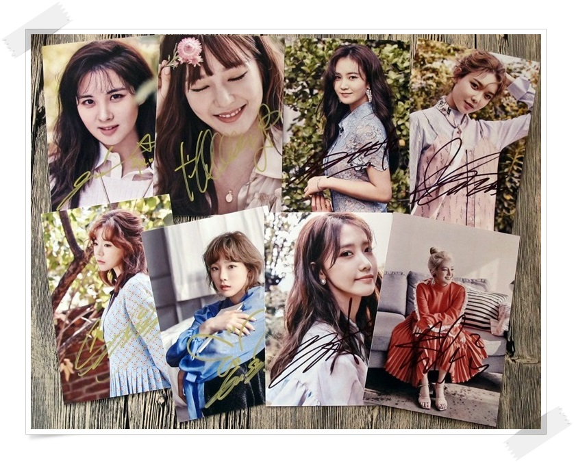 SNSD autographed signed original photo 8 photos set  6 inches  collection new korean  freeshipping 02.2017 signed apink jeong eun ji autographed original photo 6 inches 6 versions freeshipping 082017b