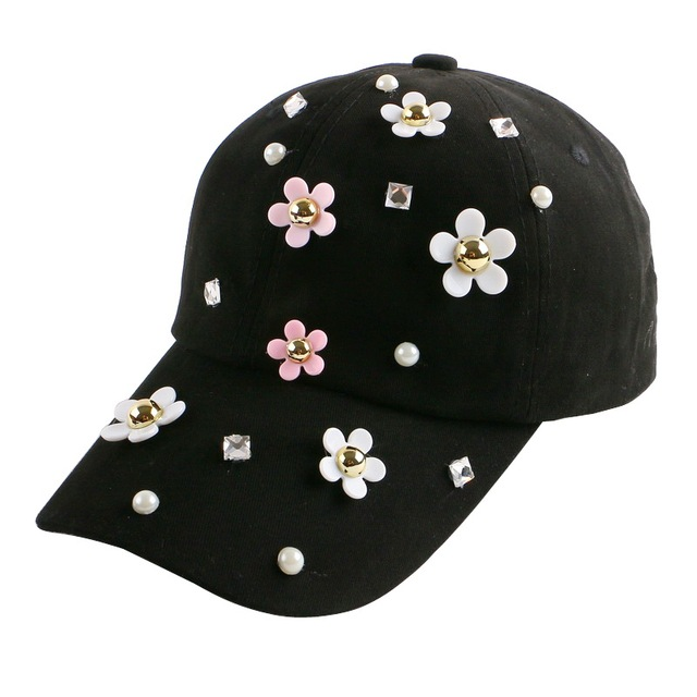 new trendy fitted women girl beauty hat cute daisy shaped outdoor casual jean  baseball cap female hip hop gorras snapback hats 19b7485978aa