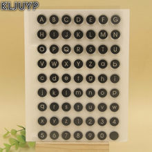 KLJUYP 1 sheet Letters and Number Clear Silicone Stamp for DIY scrapbooking/photo album Decorative craft(China)