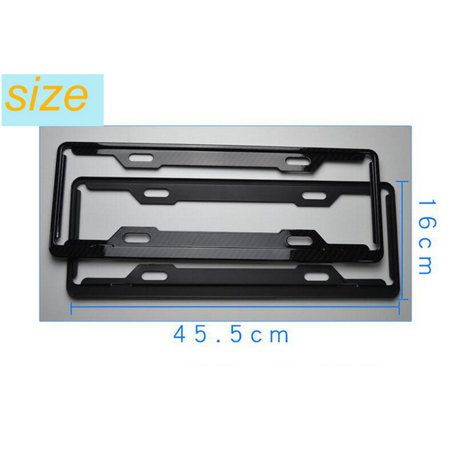 Chinese size carbon fiber Car license plate frame auto plate number ...