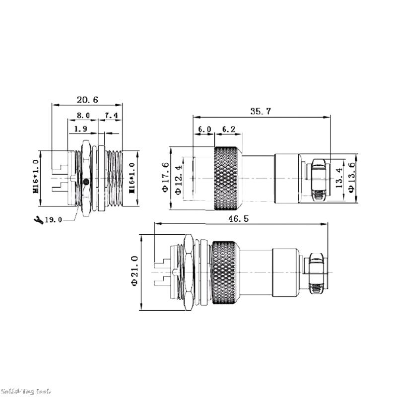 GX16 Aviação Conector Tomada À Prova D' Água Sensor de Encoder 2/3/4/5/6 Pin