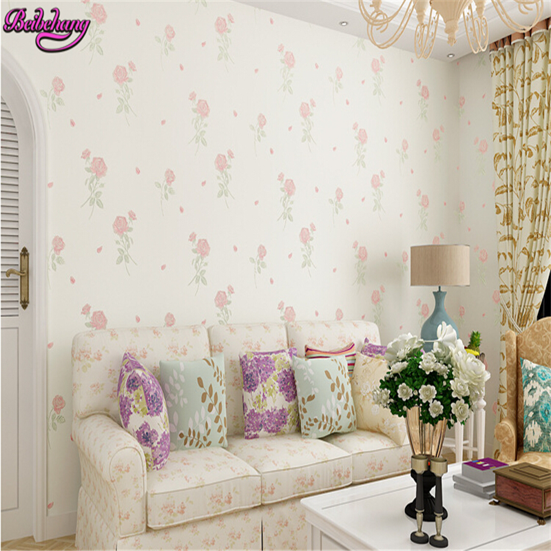 beibehang papel de parede Fashion non woven exquisite embossed rose fresh pastoral wallpaper wallpaper for walls 3d wall paper beibehang embossed american pastoral flowers wallpaper roll floral non woven wall paper wallpaper for walls 3 d living room
