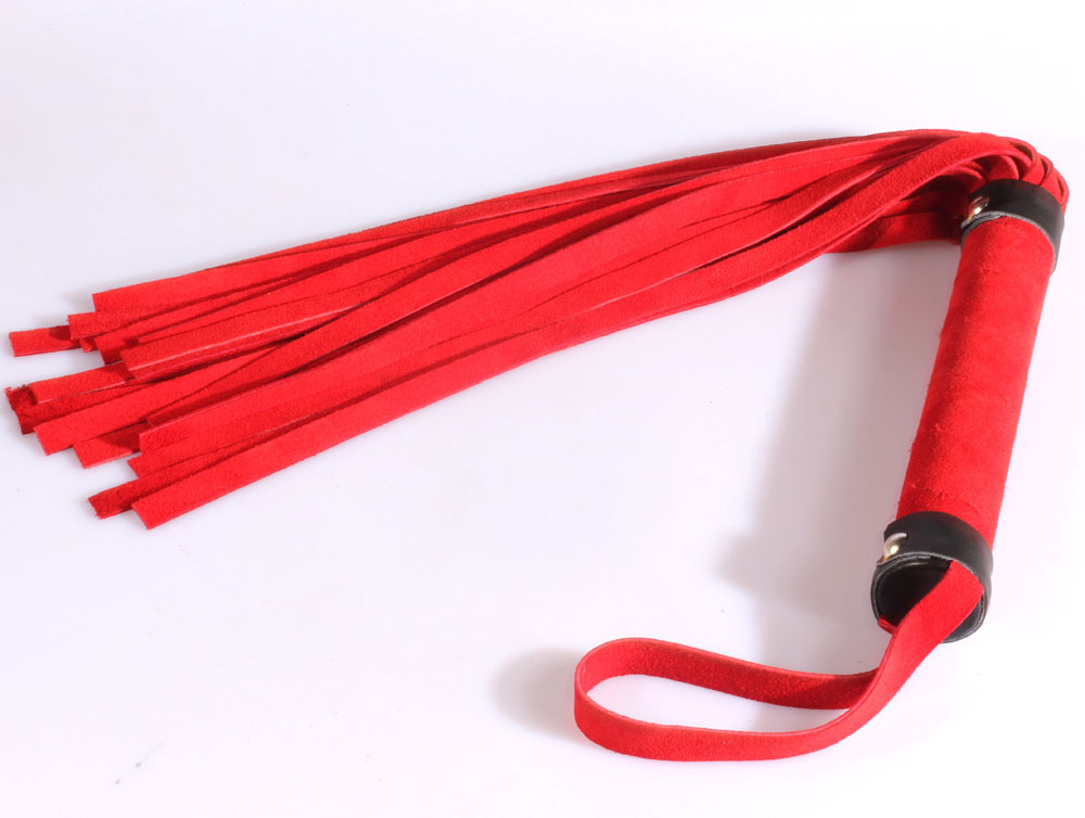 Free shipping spanking 60cm red suede leather flogger, handmade Horse whip, flirting fun sexy leather whip Knout sex toys casio g shock gravitymaster ga 1100 1a