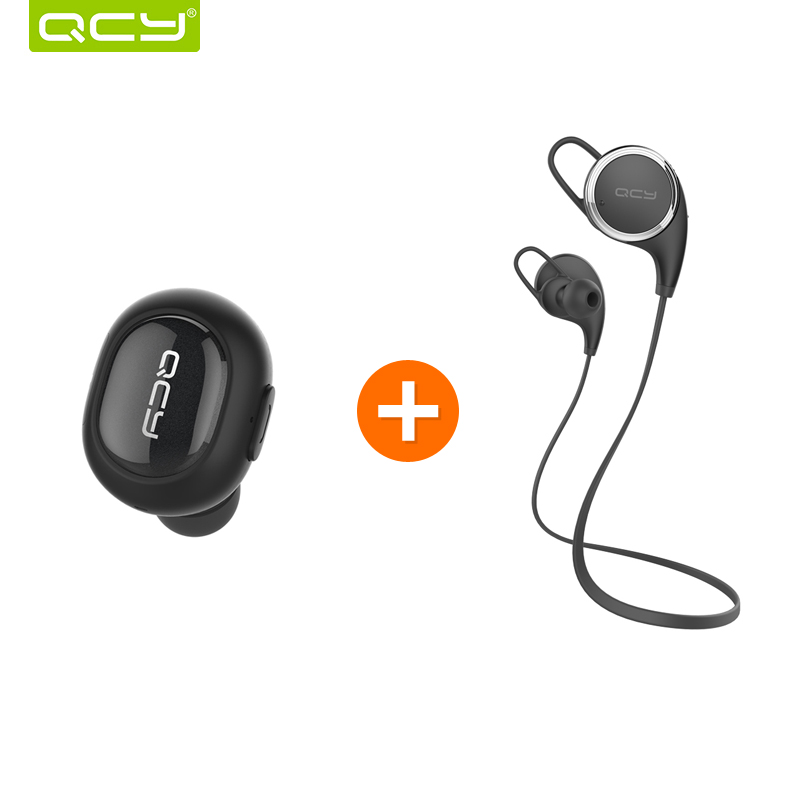 ФОТО QCY Q26 mini earphone wireless Invisible headphone bluetooth 4.1 noise canceling earbud and QY8  stereo sports headphones