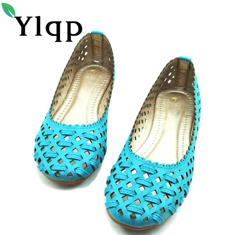 Ylqp Comfortable Flat Bottomed Women Shoes 2018 Summer Hollow Out Breathable Shoes Zapatillas Mujer Flat Shoes Chaussures Femme pinsen 2017 summer women flat platform sandals shoes woman casual air mesh comfortable breathable shoes lace up zapatillas mujer