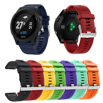 22mm Silicone Band For Garmin Fenix 5 5 Plus Quick Fit Release Strap Band for Gamin Forerunner 935/Instinct/Fenix 6 Smart Watch image