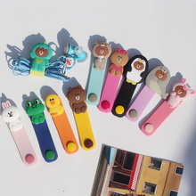 Cartoon cable ties cute earphone winder data cable storage buckle charging line mouse line controller bear rabbit for iphone цена и фото