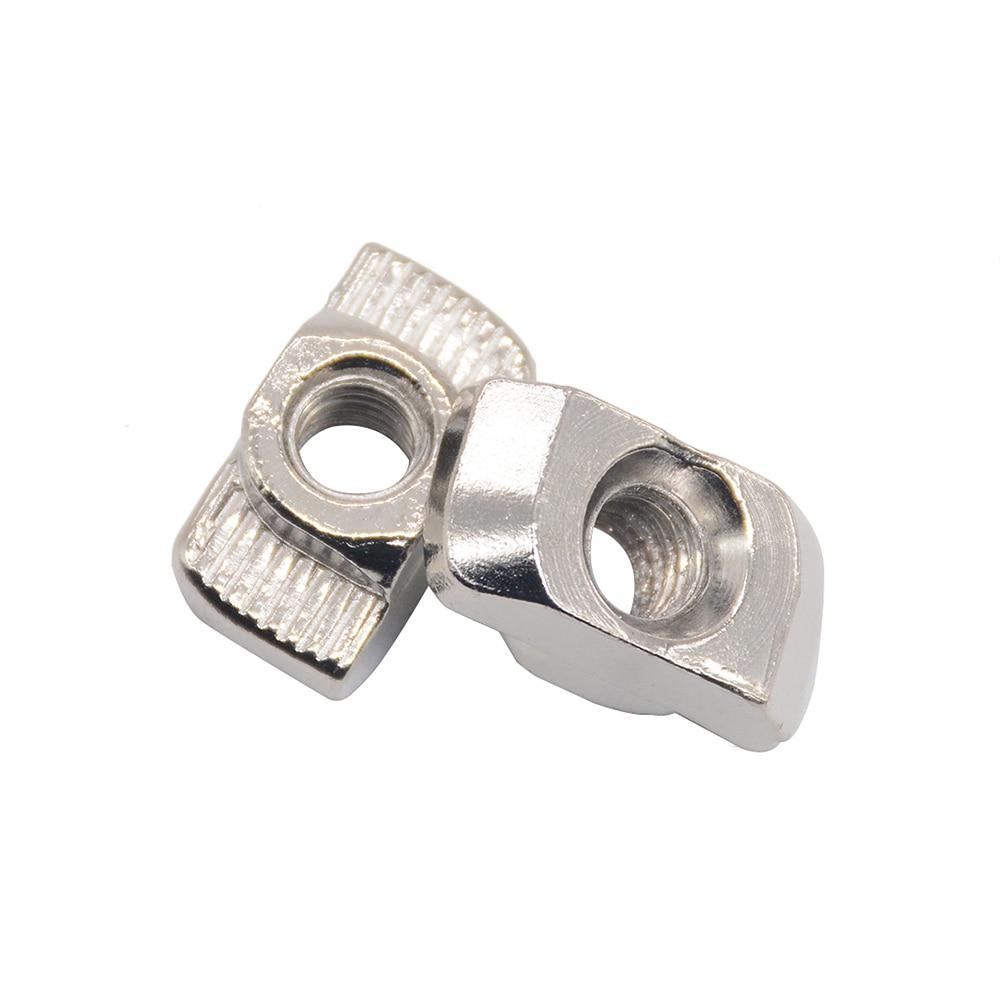 HOT Carbon steel T type Nuts Fastener Aluminum Connector M3M4M5M6M8 For EU Standard 4040 Industrial Aluminum Profile for Kossel