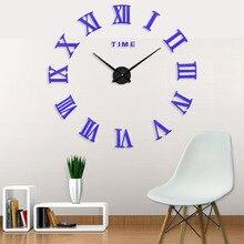 New Modern Fashion Mute Exquisite Decoration Wall Clocks 3D Big Size Horloge 3d Diy Acrylic Mirror Sticker Watch Clock