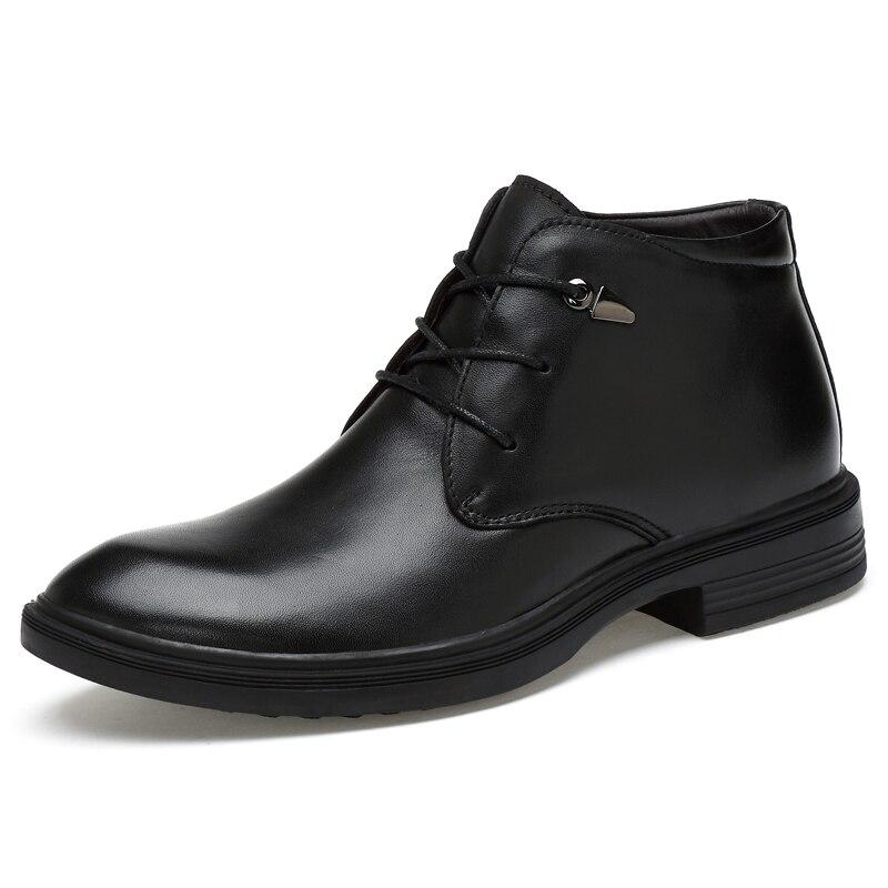 CLAX Men Leather Boots Black Formal Shoes Spring Autumn Men s Dress Shoe Handmade social shoe