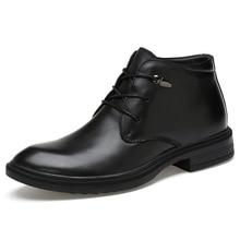 CLAX Men Leather Boots Black Formal Shoes Spring Autumn Mens Dress Shoe Handmade social shoe business shoes Genuine