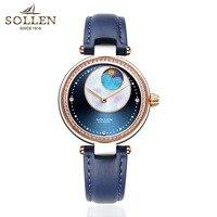 New Galaxy Design Luxury Brand Automatic Watch Women Ladies Dress Casual Stainless Steel 2018 Clock Female