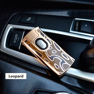 Image 2 - 2018 New USB Electric Dual Arc Metal Lighter Rechargeable Plasma Lighter Cigarette Touch Sensing Pulse Cross Thunder Ligthers