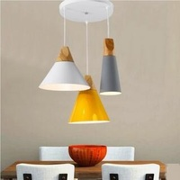 Nordic style simple bar counter lamp bedroom bedroom coffee shop restaurant personality 1/3heads small pendant light T0106