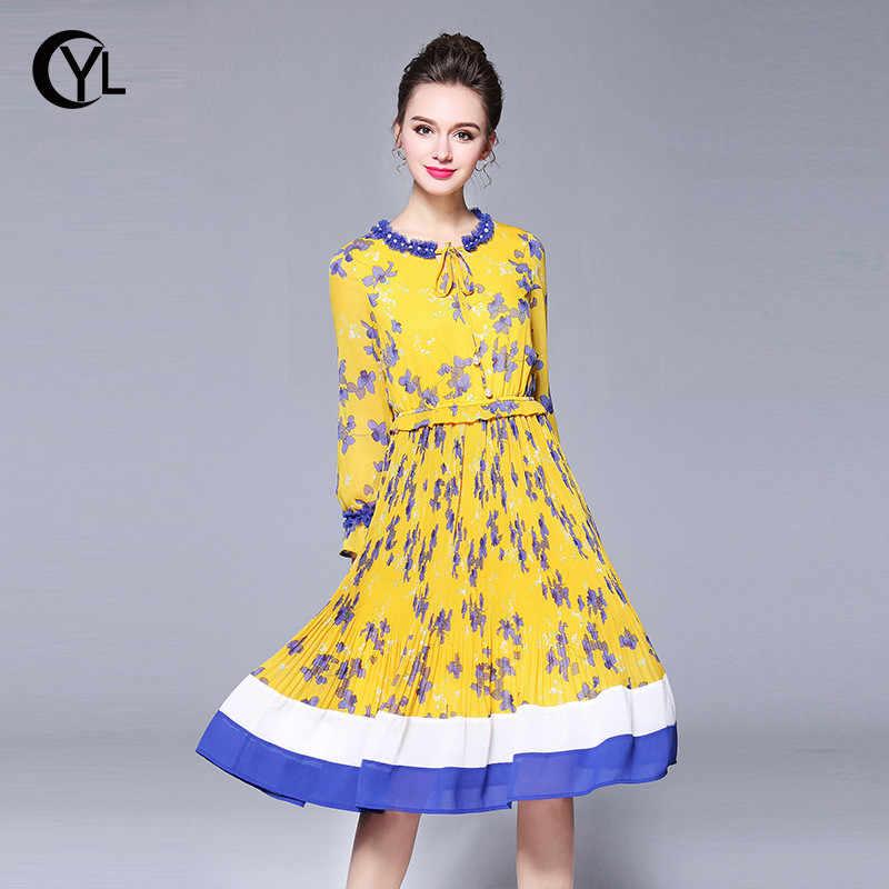 OUYALIN M- XXXL 4XL 5XL Plus size dress 2018 New Boho Spring Women Long  sleeve 33f38dee1fe0