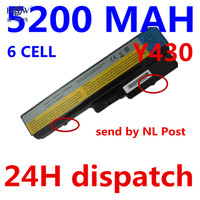 5200MAH Y430 Laptop Battery Replacement For Lenovo IdeaPad V430a V450a 2781 Y430a Y430g 45K2221 L08O6D01 L08S6D01