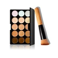 Professional face basic makeup foundation 15 colors makeup concealer contour palette 1pc makeup brush jan10.jpg 200x200