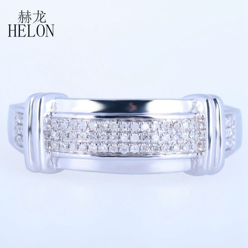 helon mens band pave natural diamonds party jewelry setting solid 10k white gold engagement wedding mens
