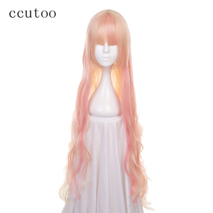 ccutoo 120cm Macross sheryl Pink Blonde Mix Wavy Long Synthetic Wig Heat Resistance Fiber Cosplay Costume Wigs Hair(China)