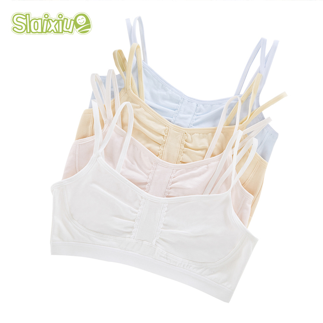 4cc816df03 Teenage Underwear For Girl Wireless Cotton Children Girls Clothes Small  Training Puberty Bras Training Lace Undergarment