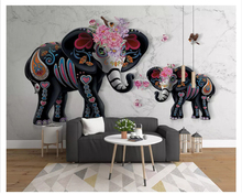 beibehang Classic modern personality silky new wall paper 3D stereo elephant suitable bedroom living room study 3d wallpaper