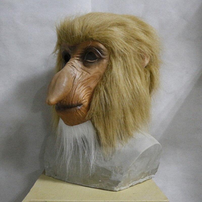 2019 Hot Selling  New Cute halloween costume latex proboscis monkey mask