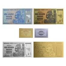 WR Оригинал 4 шт золотые банкноты 100 триллионов долларов, серебряные поддельные деньги, доллар золота, копия банкнот, коллекционные вещи