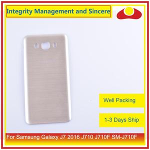 Image 3 - מקורי עבור Samsung Galaxy J7 2016 J710 SM J710F J710M J710H J710FN שיכון סוללה דלת אחורי כיסוי אחורי מקרה מארז פגז