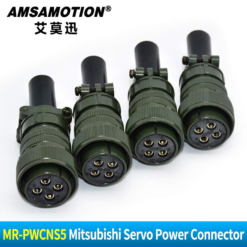 MR-PWCNS5 Suitable Mitsubishi Servo Power Connector Servo Encoder Aviation Plug 18-10S 20-4S 20-15S 20-18S 20-29S 22-22S 32-17S 20pcs 500pcs 9pins elbow aviation plug encoder servo motor connector ms3102 3106a24 11s jack