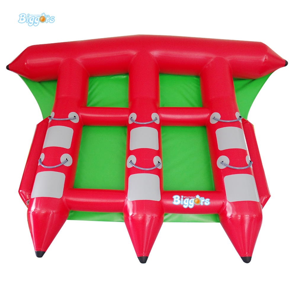 0.9mm PVC Tarpaulin 6 Seat Version Inflatable Floating Flying Fish Towable Tube  Inflatable Water Game Flyfish Banana Boat 8 person inflatable ski flotation 2 tube banana boat towables water wave surf game riding water game