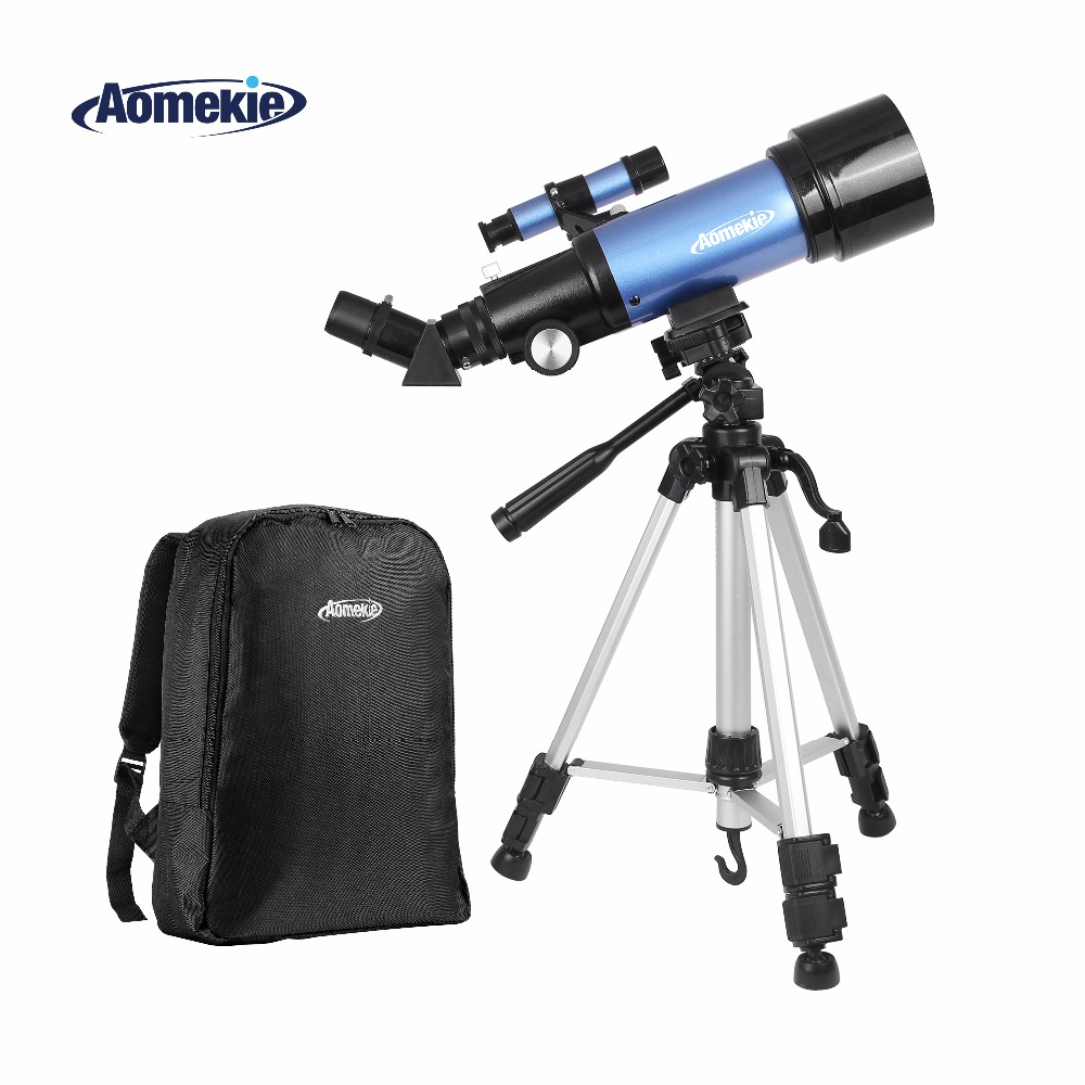 AOMEKIE F40070M Astronomical Telescope with High Tripod Backpack Terrestrial Space Erecting Image Telescope Moon Watching Gift aomekie f30070m beginner astronomical telescope with tripod finderscope terrestrial space monocular telescope moon watching gift