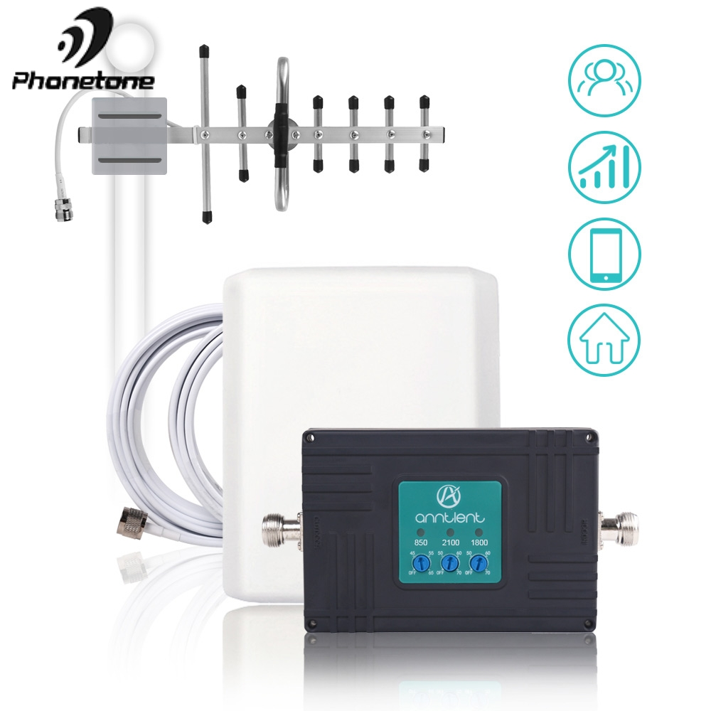 NEW cellular signal booster 850 1800 MHz gsm repeater 3G 2100MHz Mobile Phone Signal Booster 70dB 2G LTE Amplifier Antennas SetNEW cellular signal booster 850 1800 MHz gsm repeater 3G 2100MHz Mobile Phone Signal Booster 70dB 2G LTE Amplifier Antennas Set