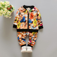 0 3Y New Kids Clothes Boys Sporting Suit Children Clothing Set Cotton Baby Girls Boys Tracksuit