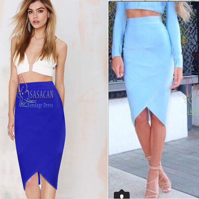 8 colour Long Back Zipper Design Pencil skirts all match Solid ...