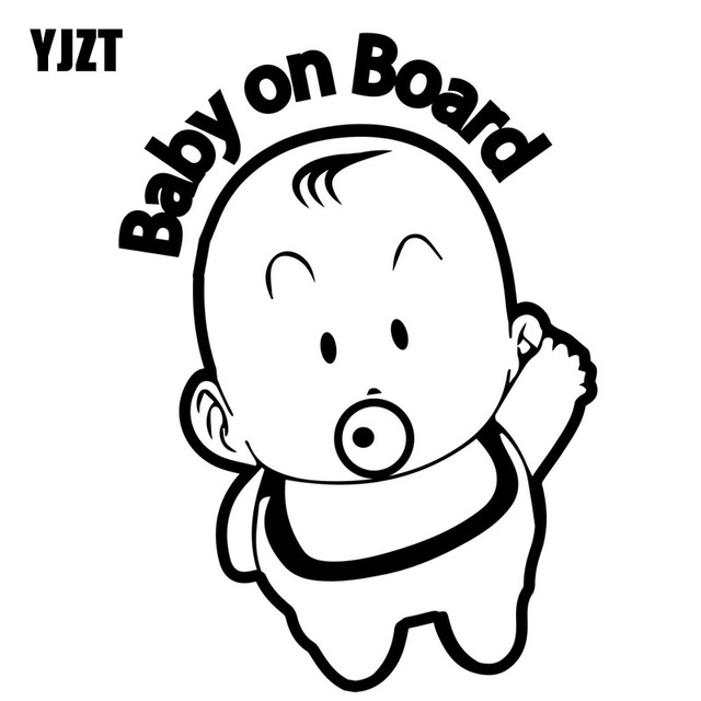 Yjzt 12 1cm16 7cm Baby On Board Cute Boy Cartoon Car Vinyl Sticker