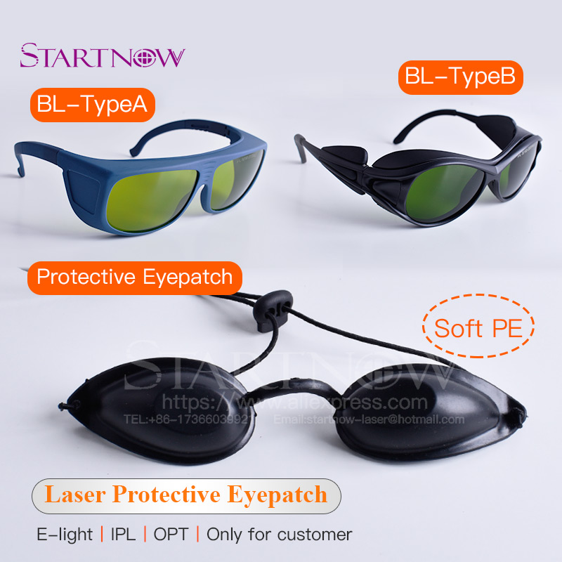 OPT E-light IPL Laser Protective Glasses Safety Goggle Soft Eyepatch Black Eyecup For Cosmetology Medical Beauty Clinic Customer