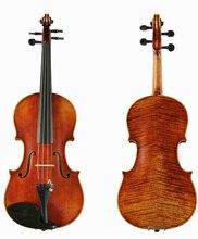 100% Handmade Oil varnish Antonio Stradivari Cremonese 1716 Model violin with Canvas case and brazil bow