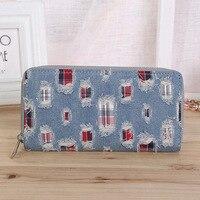 Fresh lady purse, denim fabric, personalized purse, fashionable handbag, popular Wallet
