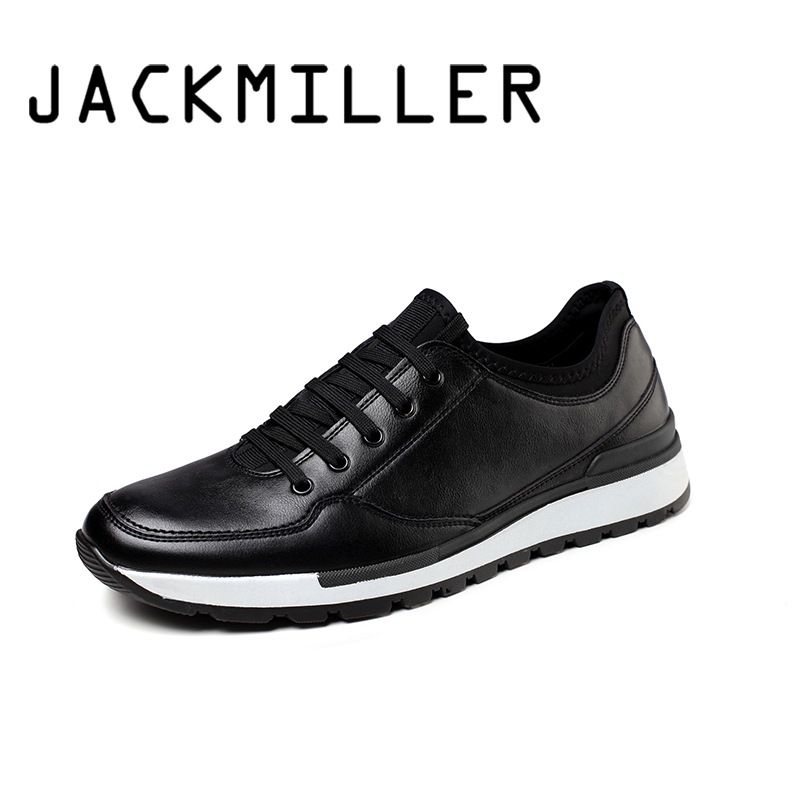 Jackmiller Top Brand New Arrival Men Casual Shoes Spring Autumn Men Shoes Fashion Solid Black Sneaker
