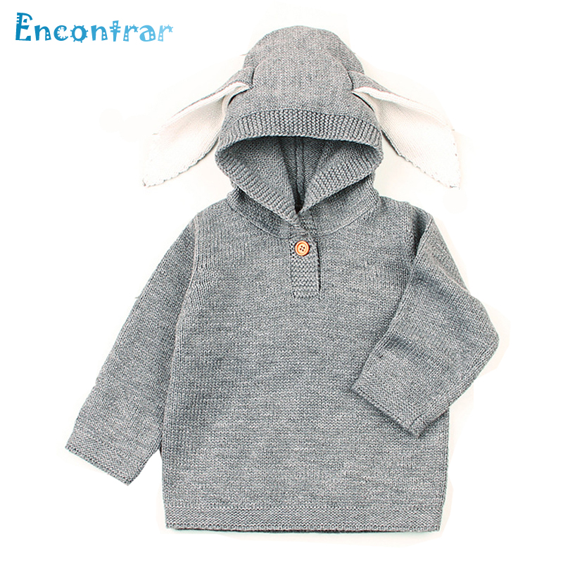 Encontrar Baby Boys Rabbit Ears Knitted Pullovers Autumn Girls Solid