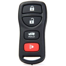 Entry Key Remote Fob Shell Cover Case with 4 Buttons for Nissan Armada 350Z Replacement for A Key with Broken Buttons / Worn Key