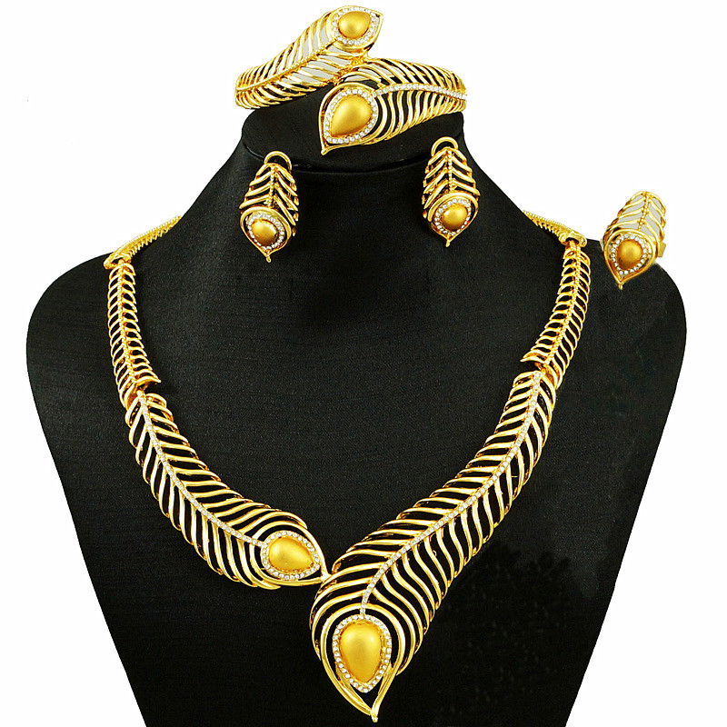 aliexpress com buy dubai gold colour women big necklace