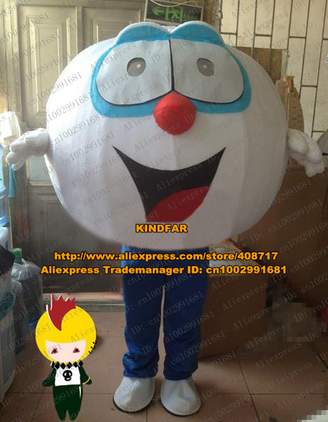 Sportive White Table Tennis Ping-pong Ball Baseball Golf Ball Golfball Mascot Costume Cartoon Character Red Nose Tongue ZZ1315