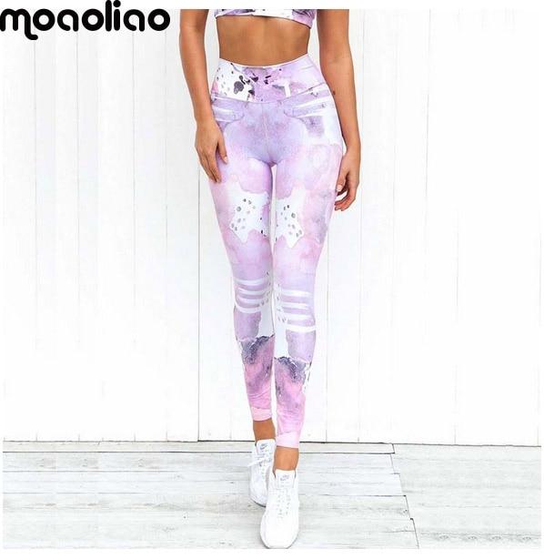 Edzőterem Ropa jóga nadrág nyomtatás sport leggings Fitness futócipő nők lélegző gyors száraz sportruházat mallas deportiva mujer