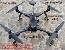 Diy drones fpv dh410 fpv quadcopter con el tren de aterrizaje plegable 3 k de carbono puro