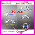 20pcs Soft Clear Bridge Conjoined Silicone Nose Pads For Glasses Eyeglass Spectacle Eyewear 5 Size Options Free Shipping