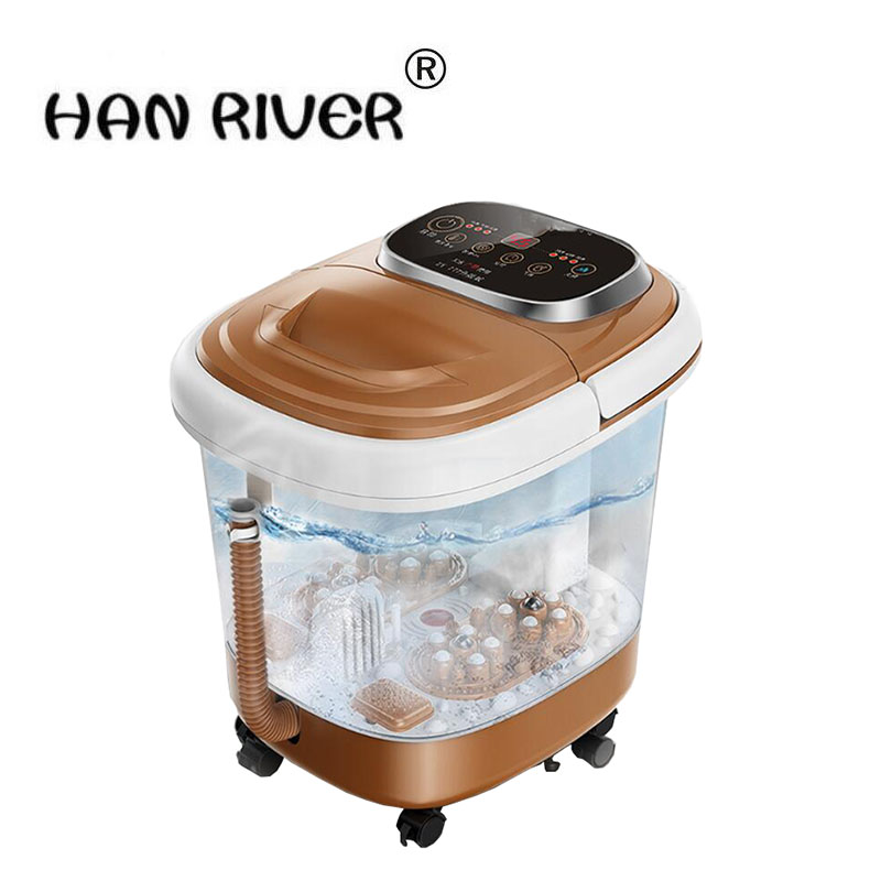 220 v foot bath device automatic massage to soak the foot barrels of electric heating pedicure machine household thermostat