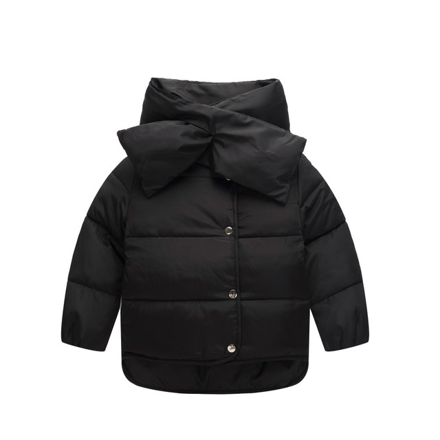 fashion girls removable collar quilted waterproof duck down jacket outwear kids winter warm snow coat free shipping