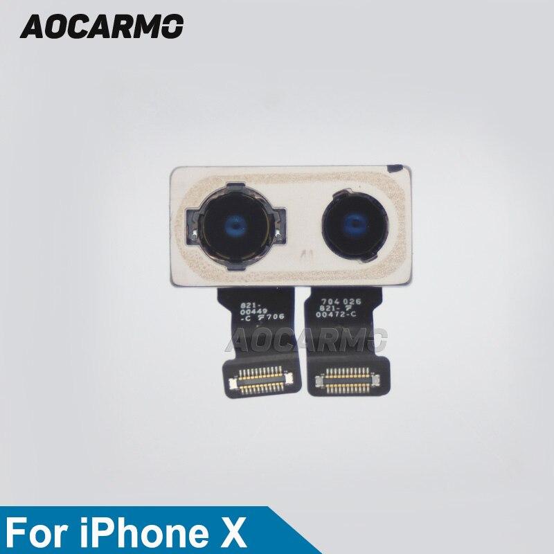 Aocarmo arrière caméra arrière arrière double lentille de caméra câble flexible partie nouveau pour iPhone X